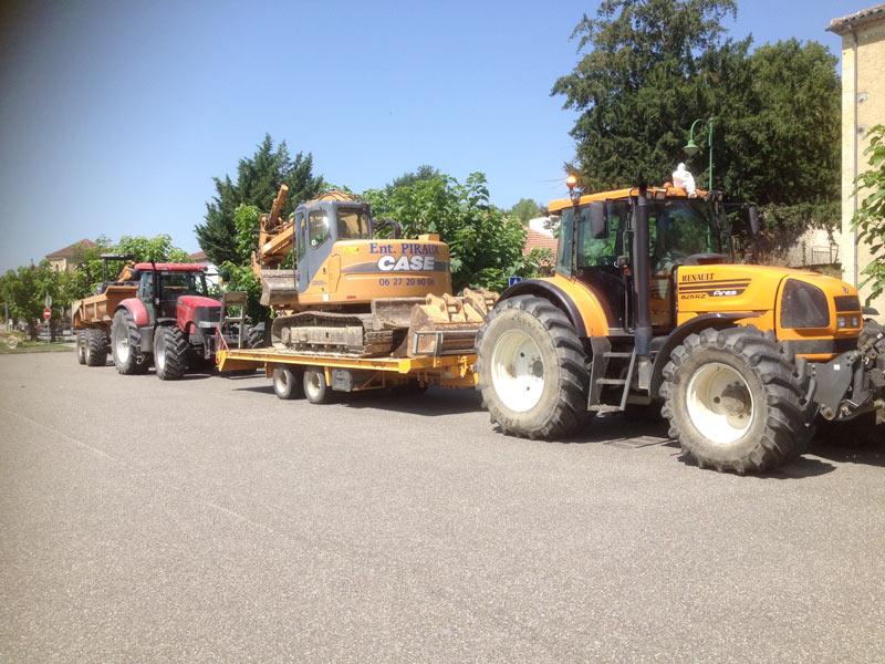 Piraux terrassement : location de tracteurs dans le Gers