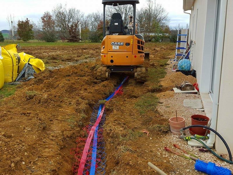 Piraux terrassement : installation assainissement dans le Gers