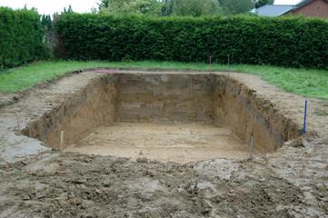 Terrassement pour construction de piscine